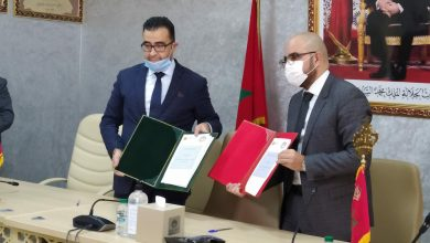 Photo of Signature of a partnership agreement between Attijari WafaBank and the Chamber of Commerce and Industry and Services Guelmim Oued Noun